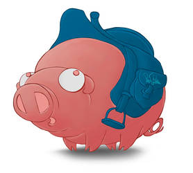 saddle your pig by Pawel-Lada