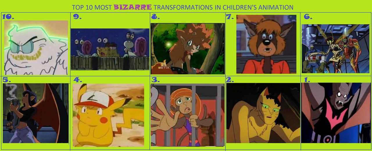 Top 10 Bizarre Transformations In Cartoons By Werewolf Korra On