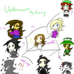 Doodles ft Unknown Story characters by 34wacky