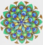 Peacock ceiling rose by LiberLibelula
