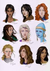 Female characters from books by LiberLibelula