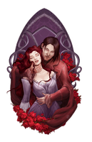 Commission - Vampires (With process video) by LiberLibelula