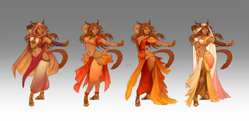 Commission - Syrena's wardrobe by LiberLibelula