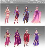 Commission - Yuuleth's wardrobe by LiberLibelula