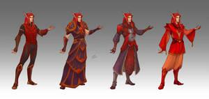 Commission - Vyrandil's wardrobe by LiberLibelula