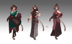 Commission - Chippy Ladara's Wardrobe by LiberLibelula