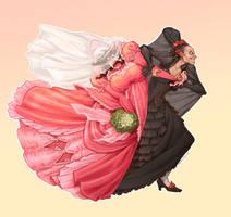Pepita and Aunt Eduarda by LiberLibelula