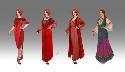 Commission - Lilith's wardrobe by LiberLibelula