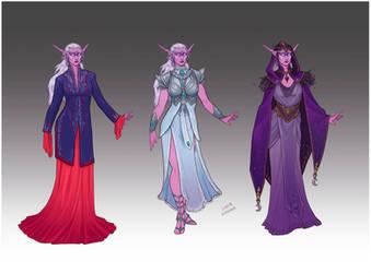 Commission - Feyawen's wardrobe by LiberLibelula