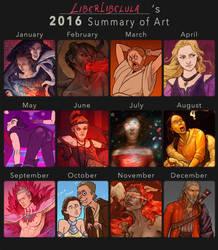 2016 Summary of Art by LiberLibelula