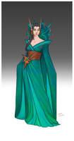 Commission - Usva's dress by LiberLibelula