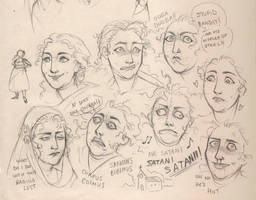 Pepita Worthington's faces by LiberLibelula