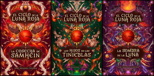 Book Covers - El Ciclo de la Luna Roja by LiberLibelula