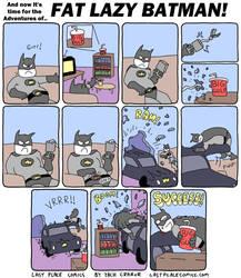 Fat Lazy Batman by Exzachly