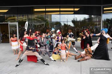 Fanime 2018 Disney Gathering Heroes Vs Villains by Rainbow-Pastel