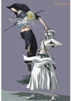 Hirako VS Ulquiorra by Shiroho-Art