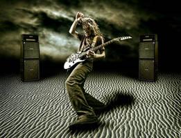 rock on desert by Melihvatansever