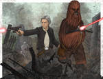 Han Solo and Chewbacca by SumtimesIplaytheFool