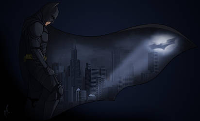 The Dark Knight by SumtimesIplaytheFool