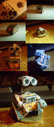Micro Papercraft de Wall-E by Conejeitor