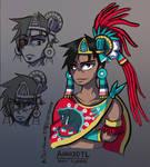 Ahuizotl ~ 8th Tlatoani of Tenochtitlan - Concept by Shi-Gu