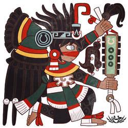 Codex Black Glyph - Itzcacalotl by Shi-Gu