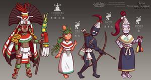 Codex Black - Character Designs 03 by Shi-Gu