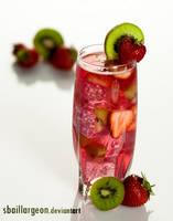 strawberry kiwi cocktail by SBaillargeon