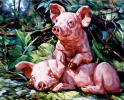 little pigs by bastienmillan
