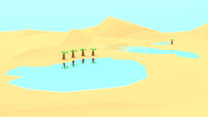 Desert Oasis by MobyMotion