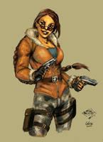 Lara Croft Winter Outfit by LeksaArt