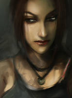Lara Croft Tomb Raider portrait by LeksaArt