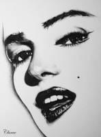 Marilyn Monroe by Clarae19