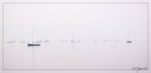 Boats in the fog by Coop81