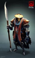 Feudal Future - Polearm Samurai by freakyfir