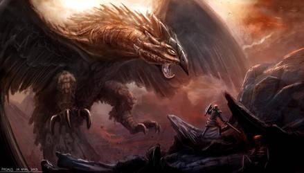 Garuda Battle by freakyfir