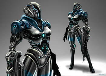 Cybernetic Police Unit by freakyfir