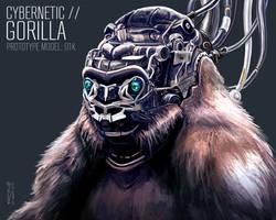 Cybernetic Gorilla by freakyfir