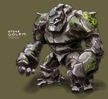 Stone Golem by freakyfir