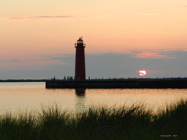 Sundown at Muskegon Lighthouse by Foozma73