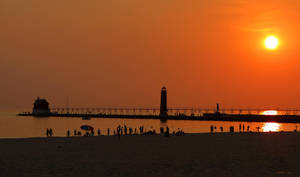 Grand Haven at Sunset by Foozma73