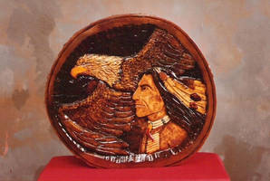 eagle and brave tablepiece by stillarebel
