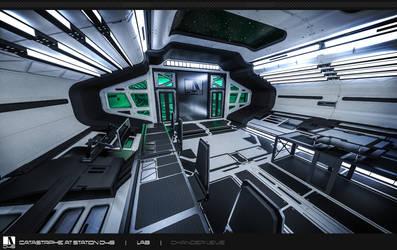 Lab Hallway - Mock-up Render by Chander-lieve