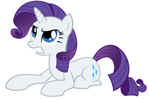 Rarity - sphinx pose by Stabzor
