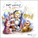 happy birthday by MsLetter