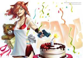 happy birthday to killuameomeo by MsLetter