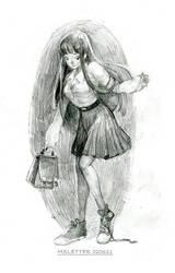 Schoolgirl Sketch by MsLetter