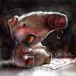 Pig Ink by MsLetter