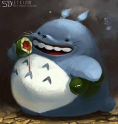 Totoro fanart by MsLetter