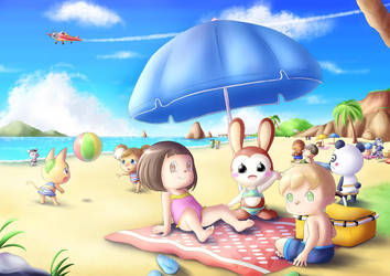 At the Beach by AlcyoneAX